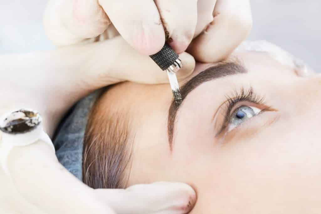 Woman undergoing Microblading at Aesthetics of Liverpool